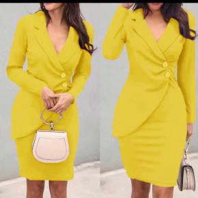 Γυναικείο κομψό φόρεμα 1933 κίτρινο