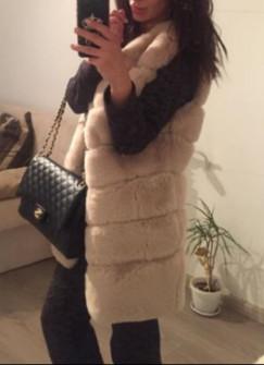 Γυναικείο γούνινο γιλέκο 7658 άσπρο