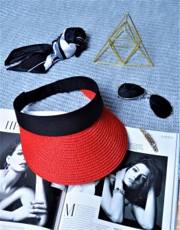 Γυναικείο καπέλο 39351-3 κόκκινο
