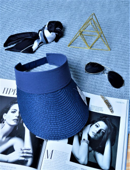 Γυναικείο καπέλο 39351-3 σκούρο μπλε