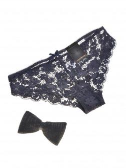 Γυναικείο δαντελένιο σλιπάκι 21301 σκούρο μπλε