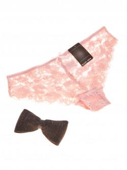 Γυναικείο δαντελένιο σλιπάκι 21301 ροζ