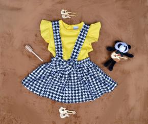 Βρεφικό σετ 2τμχ. σαλοπέτα και μπλούζα 50521180 κίτρινο