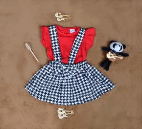 Βρεφικό σετ 2τμχ. σαλοπέτα και μπλούζα 50521180 κόκκινο