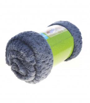 Χνουδωτή κουβέρτα PO048682 σκούρο μπλε