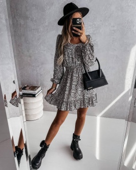 Γυναικείο φόρεμα με print  596702