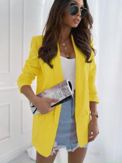Γυναικείο σακάκι 3228 κίτρινο