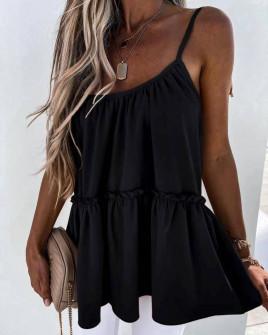 Γυναικείο τοπάκι με κορδόνια 5645 μαύρο