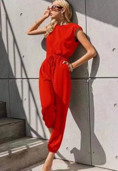 Γυναικεία χαλαρή ολόσωμη 5657 κόκκινη