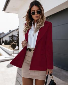 Γυναικείο σακάκι με φόδρα 5256 μπορντό