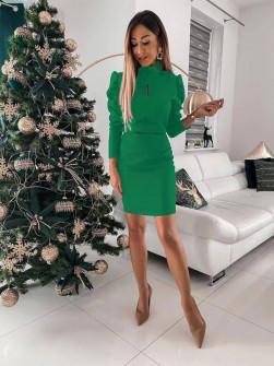 Γυναικείο εφαρμοστό φόρεμα 8047 πράσινο