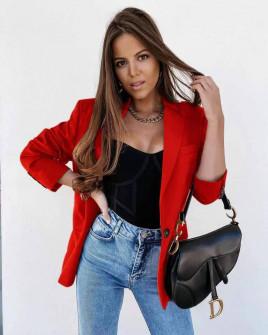 Γυναικείο σακάκι με φόδρα 5515 κόκκινο