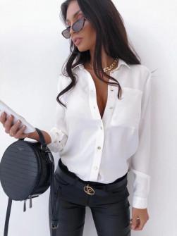 Γυναικείο μονόχρωμο πουκάμισο 3295 άσπρο