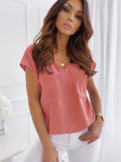 Γυναικεία κοντομάνικη μπλούζα 5044 κοραλί