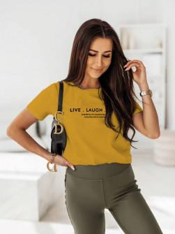 Γυναικείο κοντομάνικο 0090911 κίτρινο