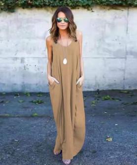 Γυναικείο φόρεμα 3569 μπεζ