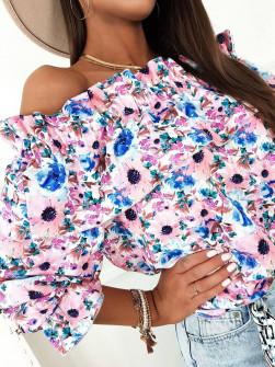 Γυναικεία μπλούζα με εντυπωσιακό ντεσέν 5812201