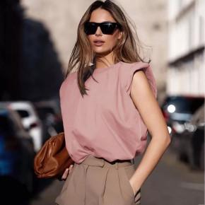 Γυναικείο αμάνικο μπλουζάκι 5090 ροζ