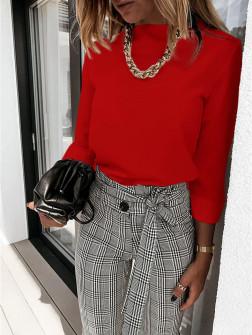 Γυναικεία μπλούζα λουπέτο 5300 κόκκινη