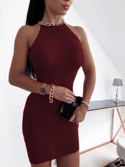 Εντυπωσιακό φόρεμα 2675 μπορντό