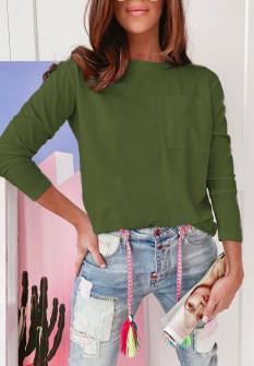 Γυναικεία απλή μπλούζα 51037 πράσινη