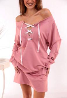 Γυναικείο μπλουζοφόρεμα 3370 ροζ