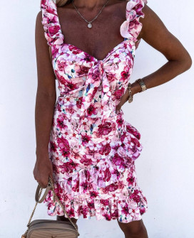 Γυναικείο φόρεμα με φλοράλ ντεσέν 2133503