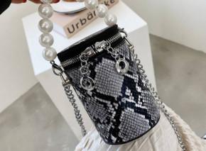 Γυναικεία εντυπωσιακή τσάντα B492 print φιδιού