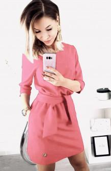 Γυναικείο φόρεμα 3327 ροζ ανοιχτό