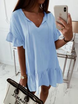 Γυναικείο χαλαρό μπλουζοφόρεμα 5110 γαλάζιο