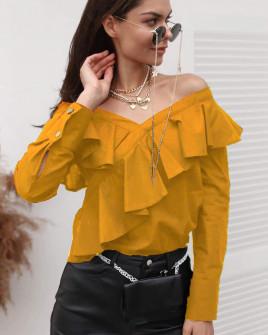Γυναικεία εντυπωσιακή μπλούζα 3216 μουσταρδί