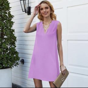 Γυναικείο φόρεμα με βαθύ ντεκολτέ 5198 λιλά