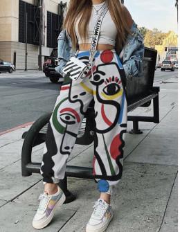 Παντελόνι με print 258301