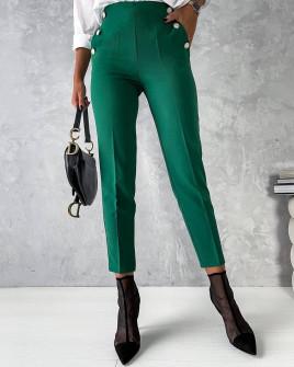 Γυναικείο εντυπωσιακό παντελόνι 5949 πράσινο