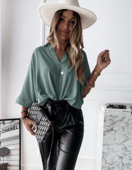 Γυναικεία χαλαρή μπλούζα 5287 μέντα