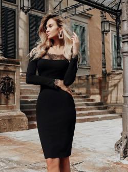 Γυναικείο φόρεμα με δαντέλα 2548