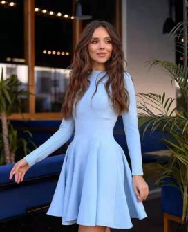 Γυναικείο κλος φόρεμα 5445 γαλάζιο