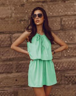 Γυναικείο κοντό φόρεμα 88199 μέντα