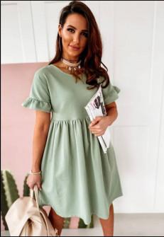 Γυναικείο χαλαρό φόρεμα 14676 μέντα