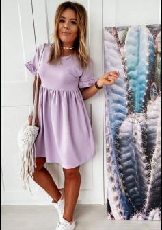 Γυναικείο χαλαρό φόρεμα 14676 λιλά