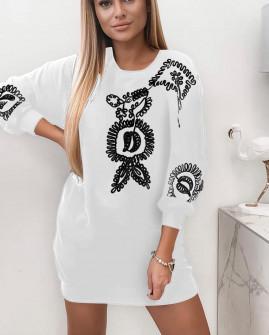 Γυναικεία μπλούζα έθνικ 4111 άσπρη