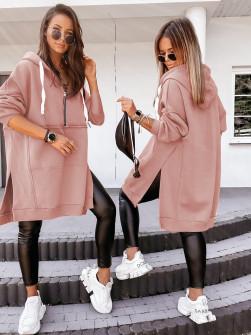 Γυναικείο σουέτ μπλουζοφόρεμα 20880 ροζ