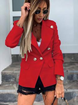 Γυναικείο κομψό σακάκι με φόδρα 5272 κόκκινο