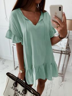 Γυναικείο χαλαρό μπλουζοφόρεμα 5110 μέντα