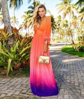 Γυναικείο φόρεμα με εντυπωσιακό ντεσέν 21349