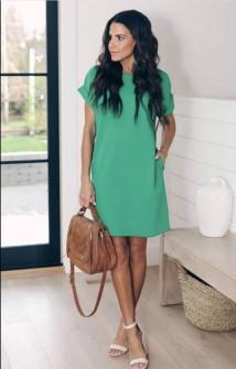 Γυναικείο φόρεμα 12204 πράσινο