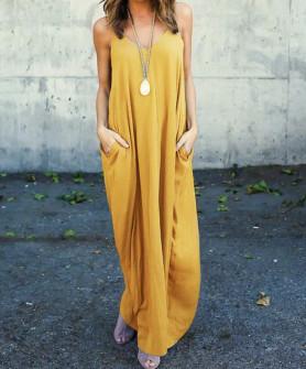Γυναικείο φόρεμα 3569 μουσταρδί
