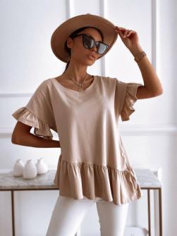 Γυναικείο εντυπωσιακή μπλούζα 00823 μπεζ