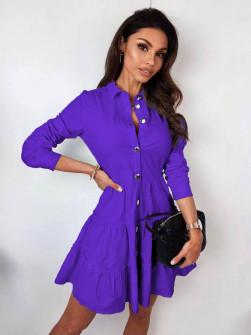 Γυναικείο φόρεμα με κουμπιά 21922 μωβ