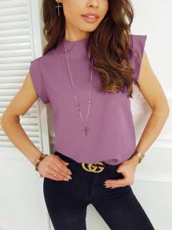 Γυναικεία κοντομάνικη μπλούζα 5025 λιλά